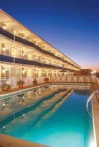 Concord Suites condos at dusk